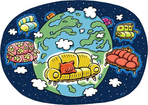 Kanapén a világ körül