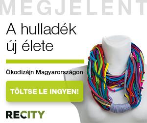 Textilcsíkokból készült nyaklánc egy próbababán