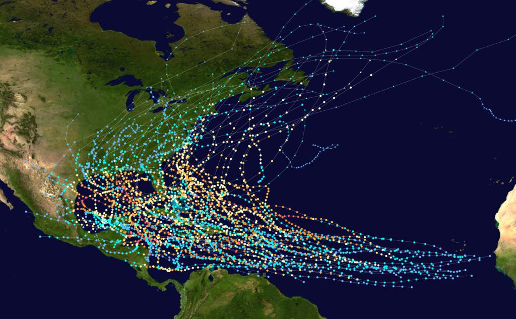 Atlanti-Óceán ciklonjai 2012-ig