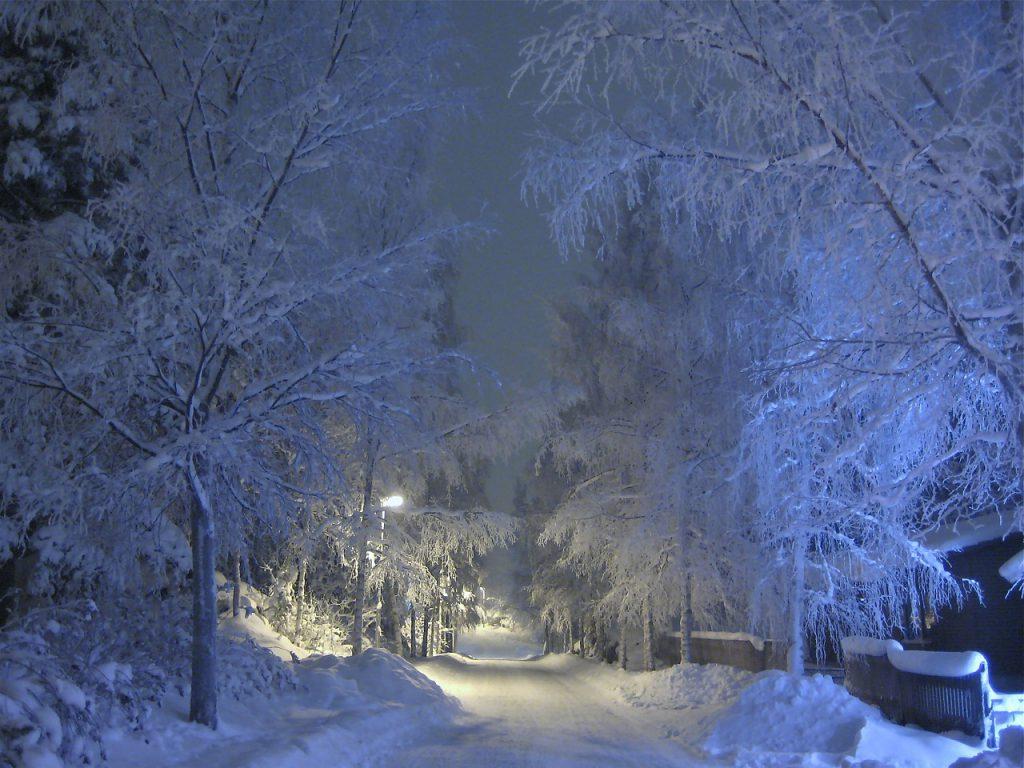 téli utcakép